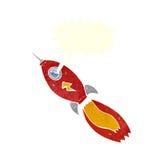 kreskówki rakieta z mowa bąblem Obraz Royalty Free