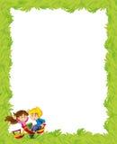 Kreskówki rama z dziećmi bawić się na boisko zabawce Obraz Royalty Free