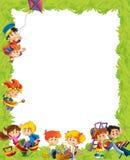 Kreskówki rama z dziećmi ma zabawy bawić się ilustracji