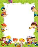 Kreskówki rama z dziećmi ma zabawy bawić się Zdjęcia Stock