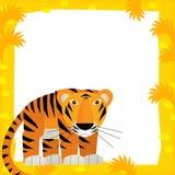 Kreskówki ramowa scena - tygrys Zdjęcia Royalty Free