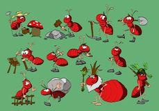 Kreskówki rewolucjonistki mrówki ilustracji
