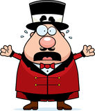 Kreskówki Ringmaster Cyrkowa panika Fotografia Stock