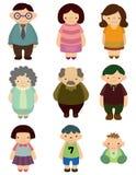 kreskówki rodziny ikona Zdjęcie Stock