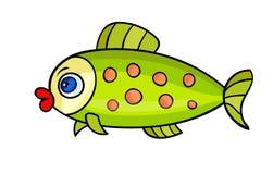 Kreskówki ryba na white-01 Zdjęcie Stock