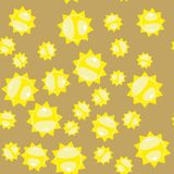 Kreskówki słońca bezszwowy wzór 628 Zdjęcie Stock