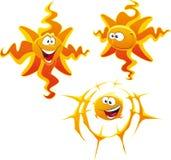 kreskówki słońca typ Obrazy Royalty Free