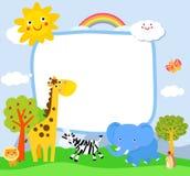 kreskówki słonia żyrafy mała zebra ilustracja wektor
