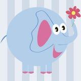kreskówki słonia kwiat Zdjęcia Stock