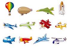 kreskówki samolotowa ikona Obraz Stock
