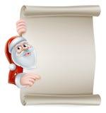 Kreskówki Santa ślimacznicy znak Zdjęcie Stock