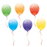 kreskówki serc biegunowy setu wektor balony Fotografia Stock
