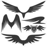kreskówki serc biegunowy setu wektor skrzydła Obrazy Royalty Free