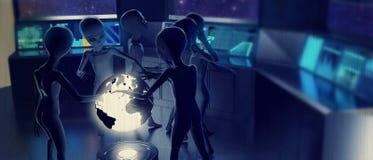 kreskówki statek kosmiczny śmieszny ilustracyjny wewnętrzny ilustracja wektor