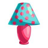 Kreskówki stołowa lampa ilustracji