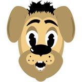 Kreskówki stylowa psia głowa ilustracja wektor