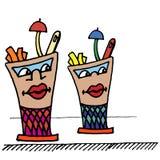 Kreskówki stylowa szklana ilustracja ilustracja wektor