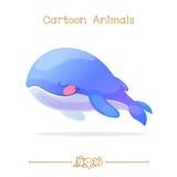 Kreskówki: Sypialny błękitnego wieloryba zakończenia zakończenia oko Zdjęcie Royalty Free
