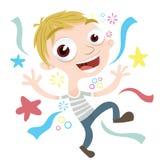 kreskówki szczęśliwa chłopiec Obraz Stock