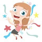 kreskówki szczęśliwa dziewczyna Obraz Stock