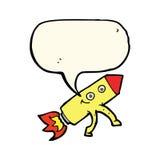 kreskówki szczęśliwa rakieta z myśl bąblem Obraz Royalty Free