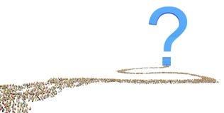 kreskówki tłumu miejsca przeznaczenia pytanie Obrazy Stock