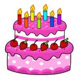 Kreskówki torta ręki rysunek Fotografia Stock