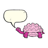 kreskówki tortoise z mowa bąblem Fotografia Royalty Free