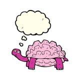 kreskówki tortoise z myśl bąblem Obraz Stock
