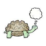 kreskówki tortoise z myśl bąblem Zdjęcia Stock