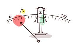Kreskówki underweight kobieta ilustracji