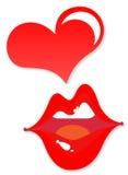 kreskówki usta seksowna kobieta Zdjęcie Stock
