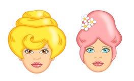 kreskówki włosy kobieta Zdjęcie Royalty Free
