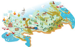 Mapa Rosja Fotografia Royalty Free