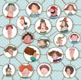 Kreskówki wersja ogólnospołeczna sieć Zdjęcie Stock