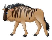 Kreskówki wildebeest maskotka Obrazy Royalty Free