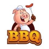 Kreskówki świni szef kuchni Obrazy Royalty Free