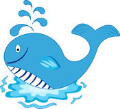 kreskówki wizerunku odosobniony wieloryb ilustracji
