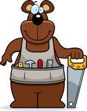 Kreskówki Woodworking niedźwiedź ilustracji
