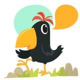 Kreskówki wrony opowiadać Zdjęcia Royalty Free