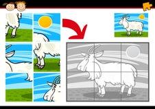 Kreskówki wyrzynarki łamigłówki koźlia gra royalty ilustracja