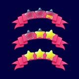 Kreskówki XP gemowe ratingowe ikony Obrazy Royalty Free