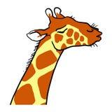 Kreskówki żyrafy Ignorancka emocja zoo Obraz Stock