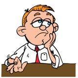 kreskówki zanudzający bębnienie dotyka jego mężczyzna ilustracji