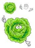 Kreskówki zielonej kapusty warzywo Zdjęcia Royalty Free