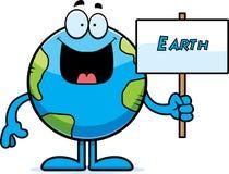 Kreskówki ziemi znak royalty ilustracja