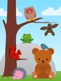 Kreskówki zwierzęcia kolekcja Obrazy Royalty Free