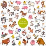Kreskówki zwierzęta gospodarskie charakterów duży set ilustracja wektor