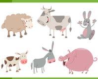Kreskówki zwierzęta gospodarskie charaktery ustawiający royalty ilustracja
