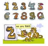 Kreskówki zwierzęcia numer dwa Zdjęcie Royalty Free